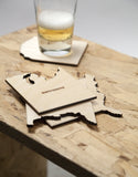 Set of 4 Wooden Coasters USA - West, North, East & Gulf Coast - Zeitgeist Gifts