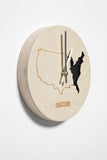 Eastern Time Zone Wooden Wall Clock - Zeitgeist Gifts