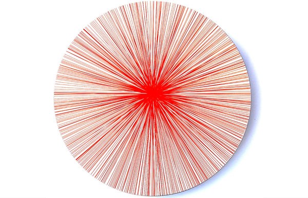 Place-Mat / Coaster Lines Red - Zeitgeist Gifts