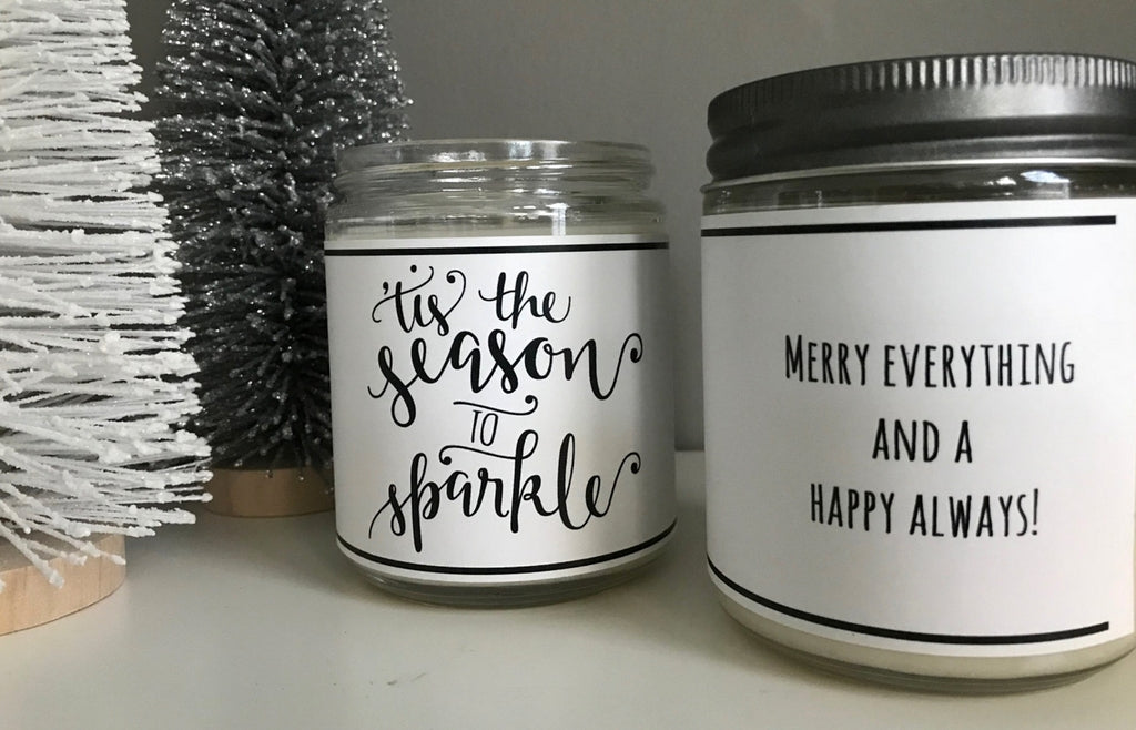 Handmade 'Tis the Season to Sparkle' Scented Soy Candle