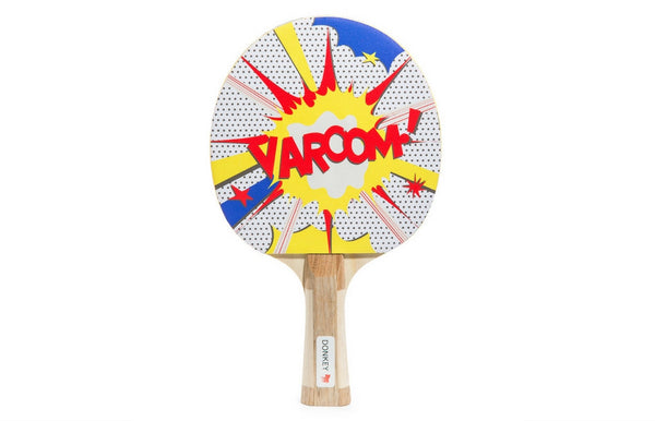 """Varooom!"" Cartoon Funny Table Tennis Paddle Set - Zeitgeist Gifts"