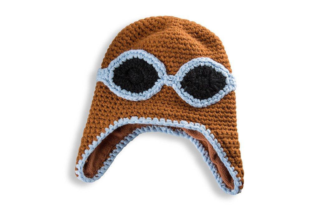 Kids Hat Flying Woolie Pilot One Size