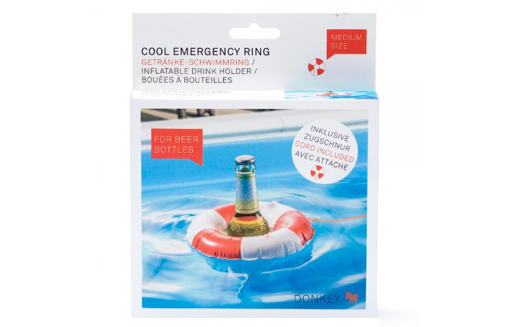 Cool Emergency Ring Inflatable Drink Holder - Zeitgeist Gifts