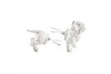 "Sweet ""Hermine the Dachshund"" Porcelain Corn Holder - Zeitgeist Gifts"