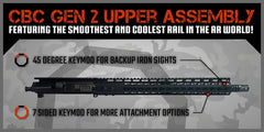 "AR-15 Upper Assembly - 16"" / 7.62 X 39 / 1:10 / 15"" CBC Arms Gen 2 Keymod AR-15 Handguard / Rail, Upper Receiver Assembly - CBC INDUSTRIES"