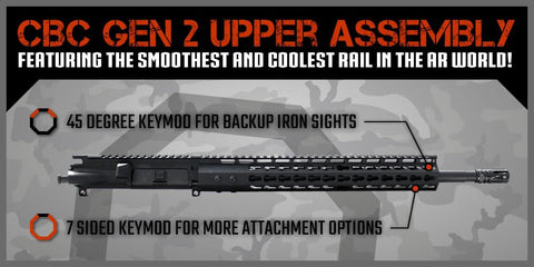 "AR-15 Upper Assembly - 16"" / 7.62 X 39 / 13"" CBC Keymod II AR-15 Handguard / Rail - CBC INDUSTRIES"