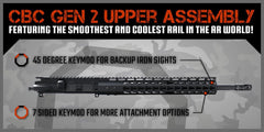 "AR-15 Upper Assembly - 16"" / 7.62 X 39 / 1:10 / 13"" CBC Arms Gen 2 Keymod AR-15 Handguard / Rail, Upper Receiver Assembly - CBC INDUSTRIES"