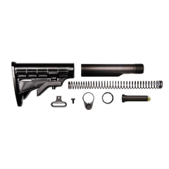 AR-15 Buttstock Kit - Buttstock / Buffer Tube / Carbine Buffer / Recoil Spring / Receiver End Plate / Extension / Castle Nut