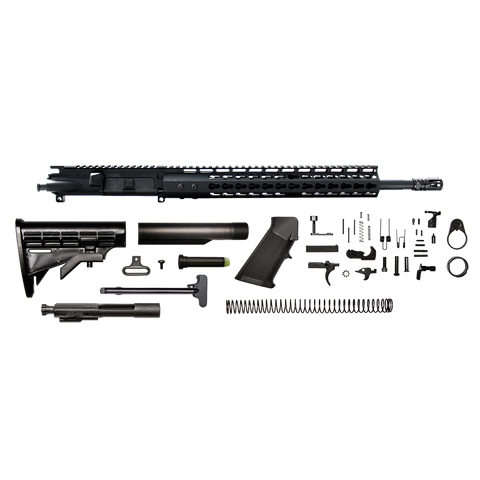 "AR-15 Rifle Kit - 16"" / 300 AAC / 1:8 / 13"" CBC Arms Gen 2 Keymod AR-15 Handguard / Rail / Bolt Carrier Group / Charging Handle / AR-15 Buttstock Kit / AR-15 Lower Parts Kit"