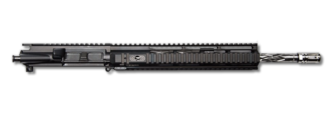 "AR-15 Upper Assembly - 16"" / .223/5.56 / SS / Diamond Fluted / 12"" Hera Arms  Quad AR-15 Handguard / Rail - CBC INDUSTRIES"