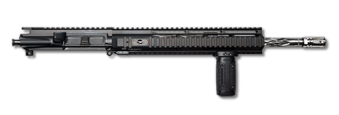 "AR-15 Upper Assembly - 16"" / .223/5.56 / SS / Diamond Fluted / 12"" Hera Arms Quad AR-15 Handguard / Rail / Grip"