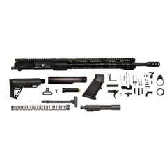 "AR-15 Grendel Rifle Kit - 18""/ 6.5 Grendel / 1:8 / 15"" Gen 1 AR-15 Handguard / Rail / Bolt Carrier Group / Charging Handle / AR-15 Buttstock Kit / AR-15 Lower Parts Kit"