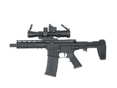 AR-15 Complete Pistol - CBC Industries Pistol CBCP-15 with Tactical Scope and Stabilizing Armbrace, Rifle - CBC INDUSTRIES