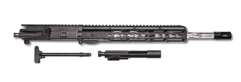 "AR-15 Upper Assembly - 16"" / .223/5.56 / SS / BLK A2 Flash Hider / BCG & CHH / Diamond Cut / 12"" Hera Arms Keymod AR-15 Rail"