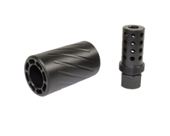 AR-15 MUZZLE COMP WITH QD BLAST SHIELD - CBC INDUSTRIES