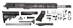 "AR-15 Rifle Kit - 16"" SS Wylde Diamond Upper Assembly / 1:9 / A2 BLK Flash / 12"" Hera Keymod / Bolt Carrier Group / Charging Handle / AR-15 Buttstock Kit / AR-15 Lower Parts Kit - CBC INDUSTRIES"