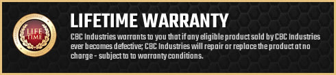 See the CBC Induestries Life-Time Warranty