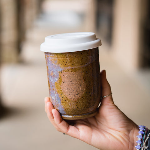 BlueTartan Pottery Travel Tumbler