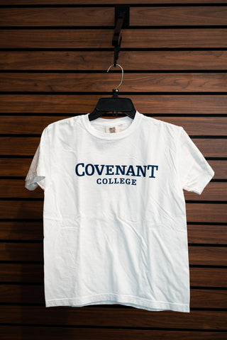 Youth Covenant College White Comfort Colors T-Shirt