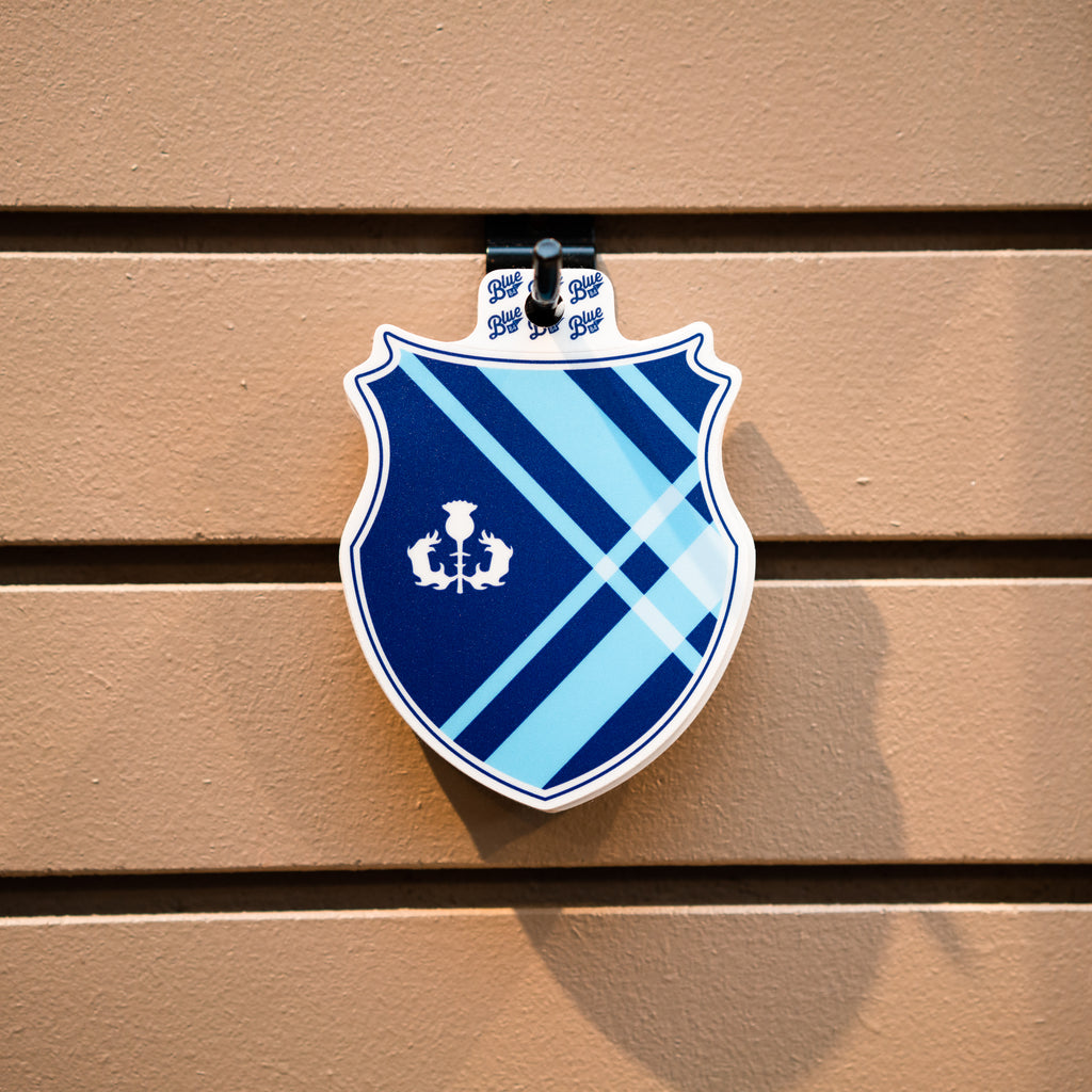 Tartan Shield Sticker
