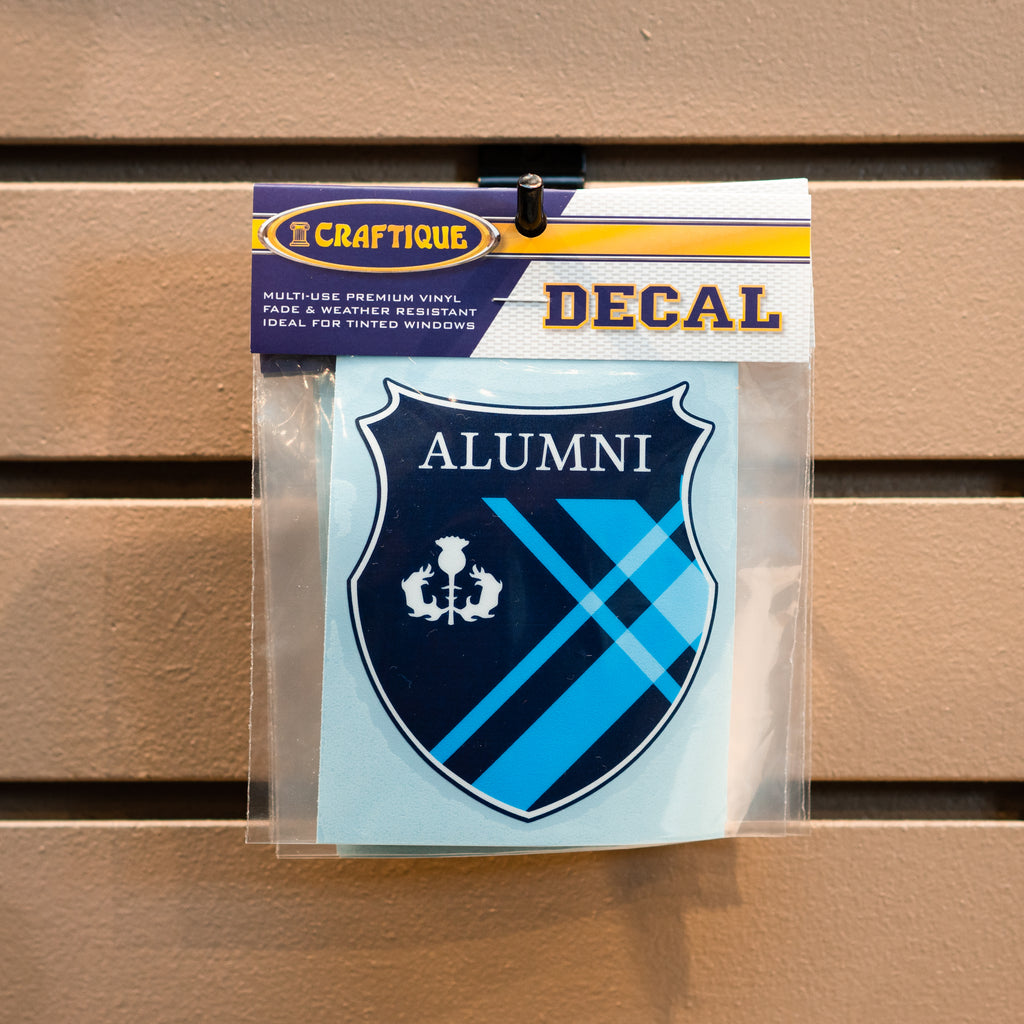 "Covenant College ""Alumni"" Tartan Shield Decal"