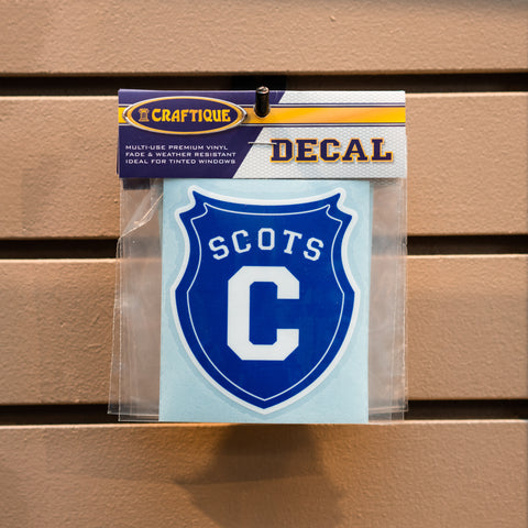 """Scots"" Shield Decal"