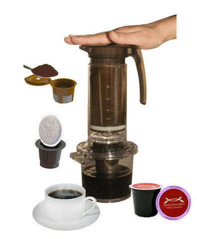 TS Alliance My French Press® Single Cup Brewer (Pod and Ground Coffee Adaptors Included)
