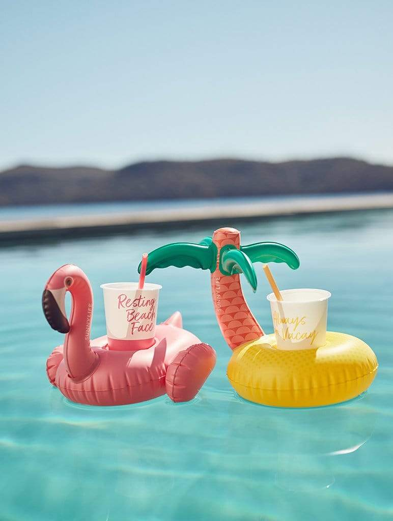Tropical Island Inflatable Drink Holder