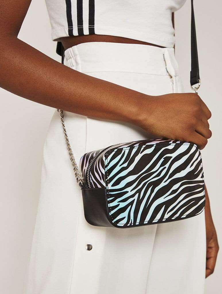 Holo Zebra Cora Cross Body Bag