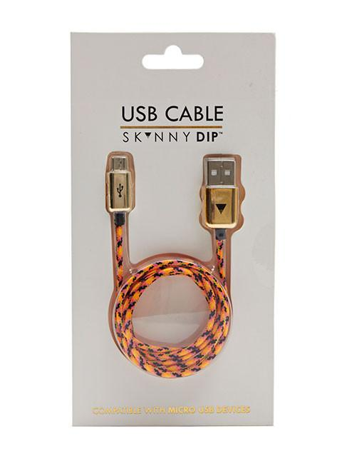 Orange Rope Micro USB Cable