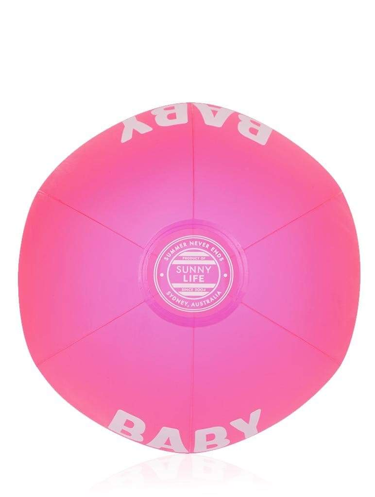 Neon Pink Inflatable Beach Ball