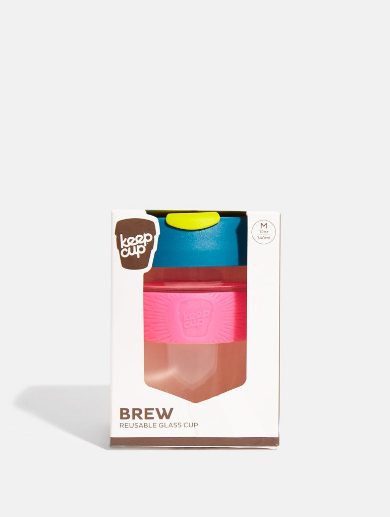 KeepCup Brew Glass Coffee Cup Atom