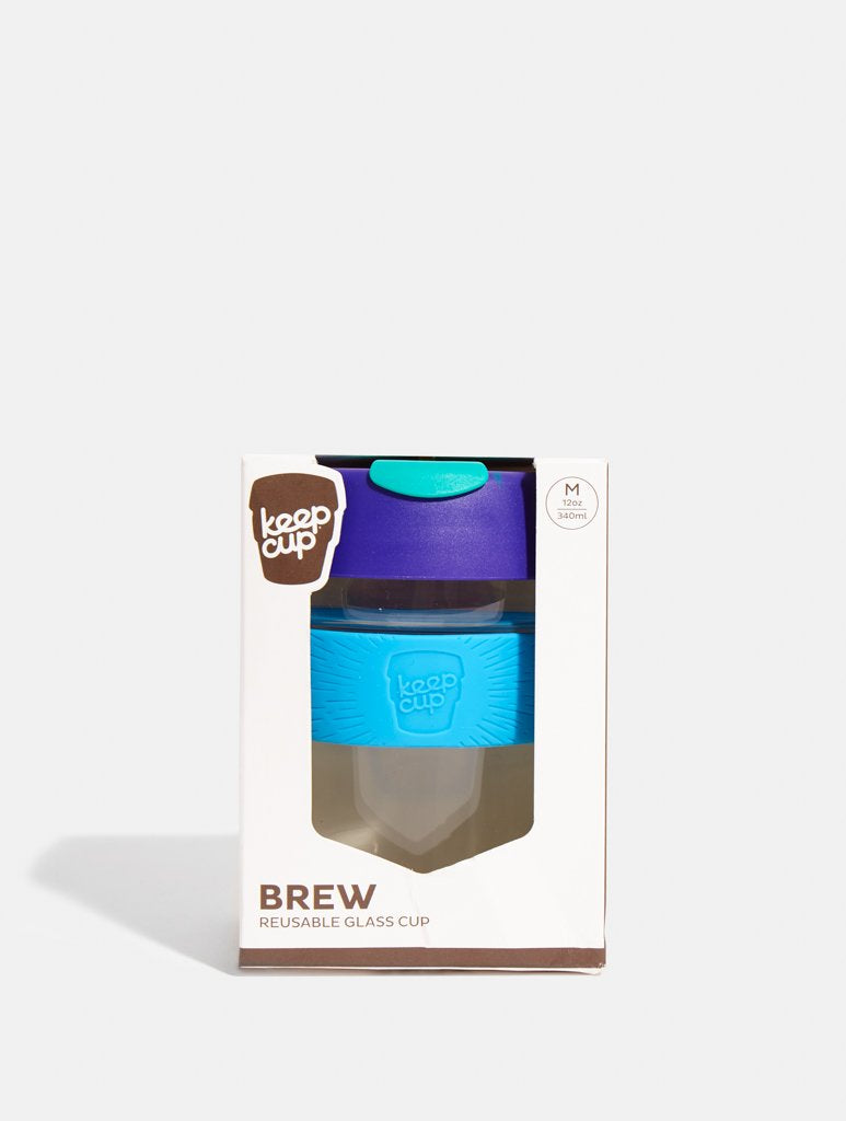 KeepCup Brew Glass Coffee Cup Tidal