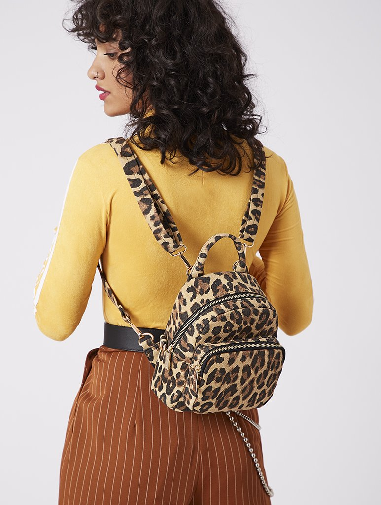 Zadie Leopard Mini Backpack