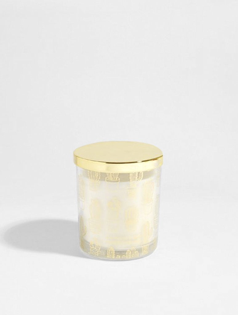 Gold Cactus Candle