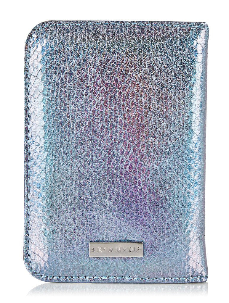 Palm Shimmer Passport Holder
