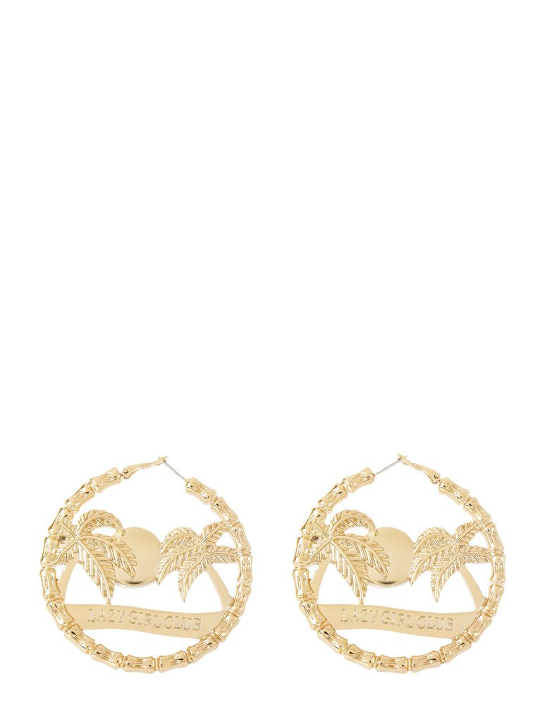 Lazy Girls Club Hoop Earrings