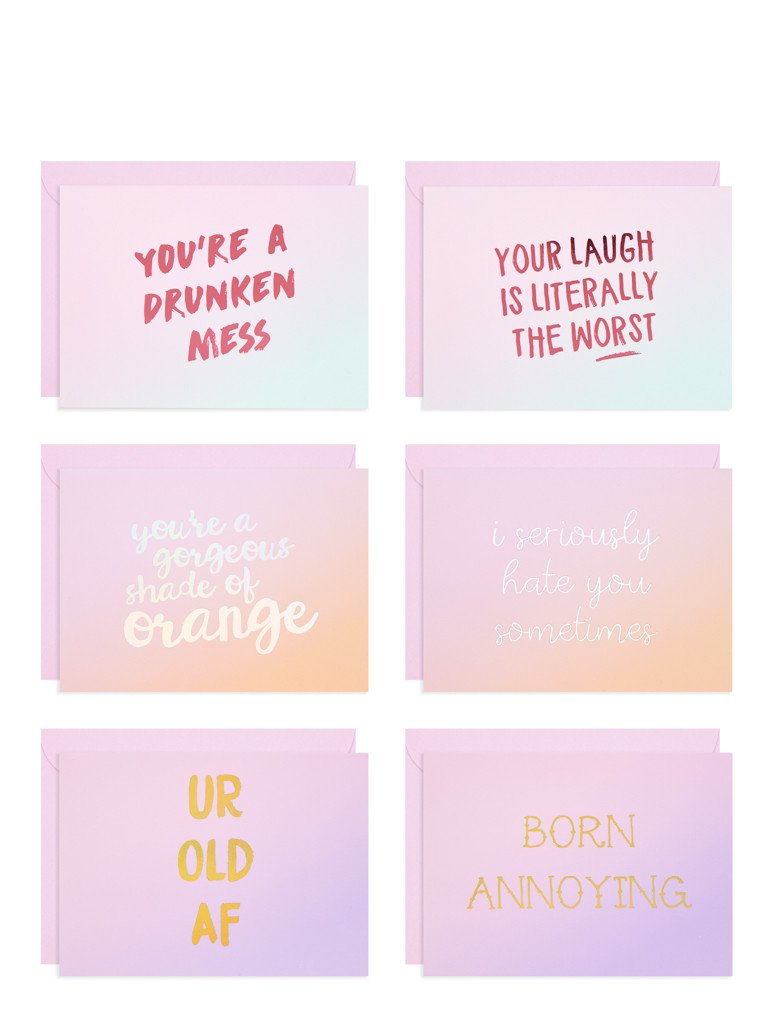 Ombre Insult Card Pack