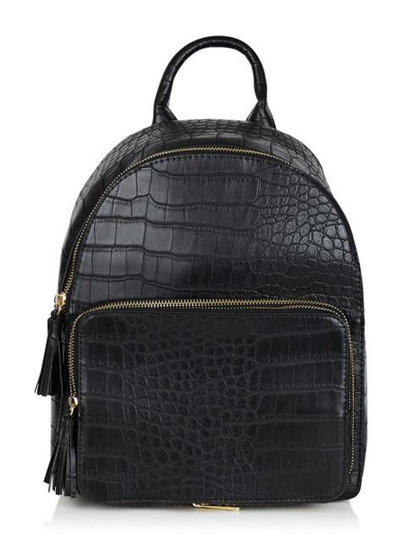 Black Croc Backpack
