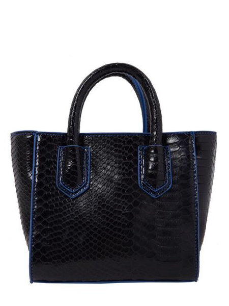Black Croc Mini Tote