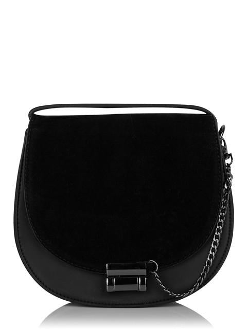 Black Saddle Cross Body Bag