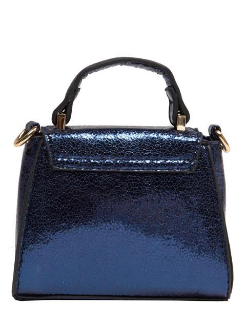 Blue Crackle Micro Lady Bag