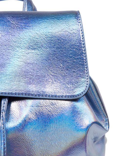 Blue Holographic Backpack