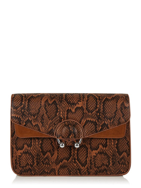 Brown Snake Town Midi Bag
