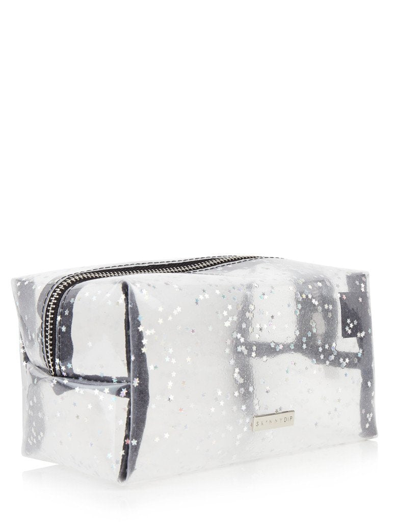 Clear Glitter Make Up Bag