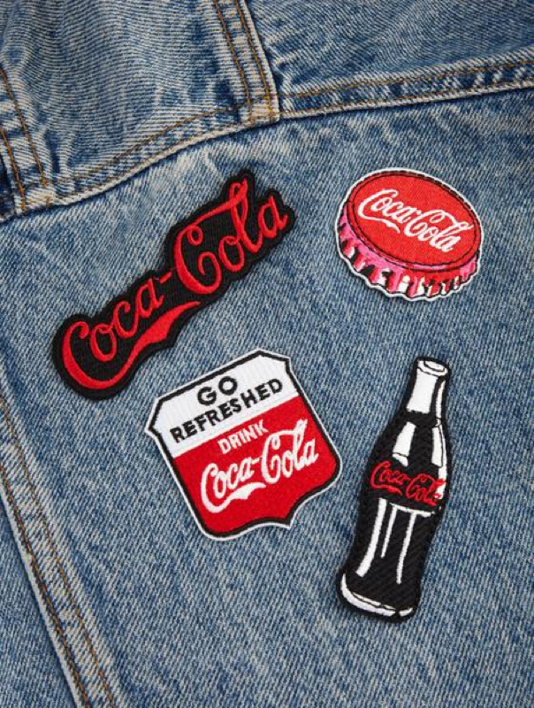 Coke Iron On Patches