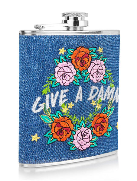 Give a Damn Hip Flask