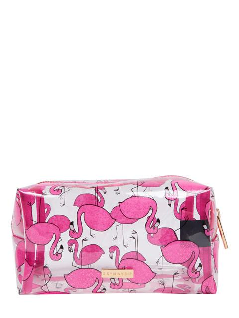 Glitter Flamingo Make Up Bag