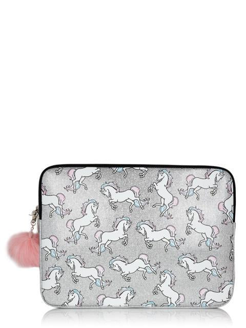 Glitter Unicorn Laptop Case