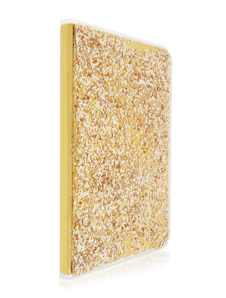 Gold Liquid Glitter Notebook